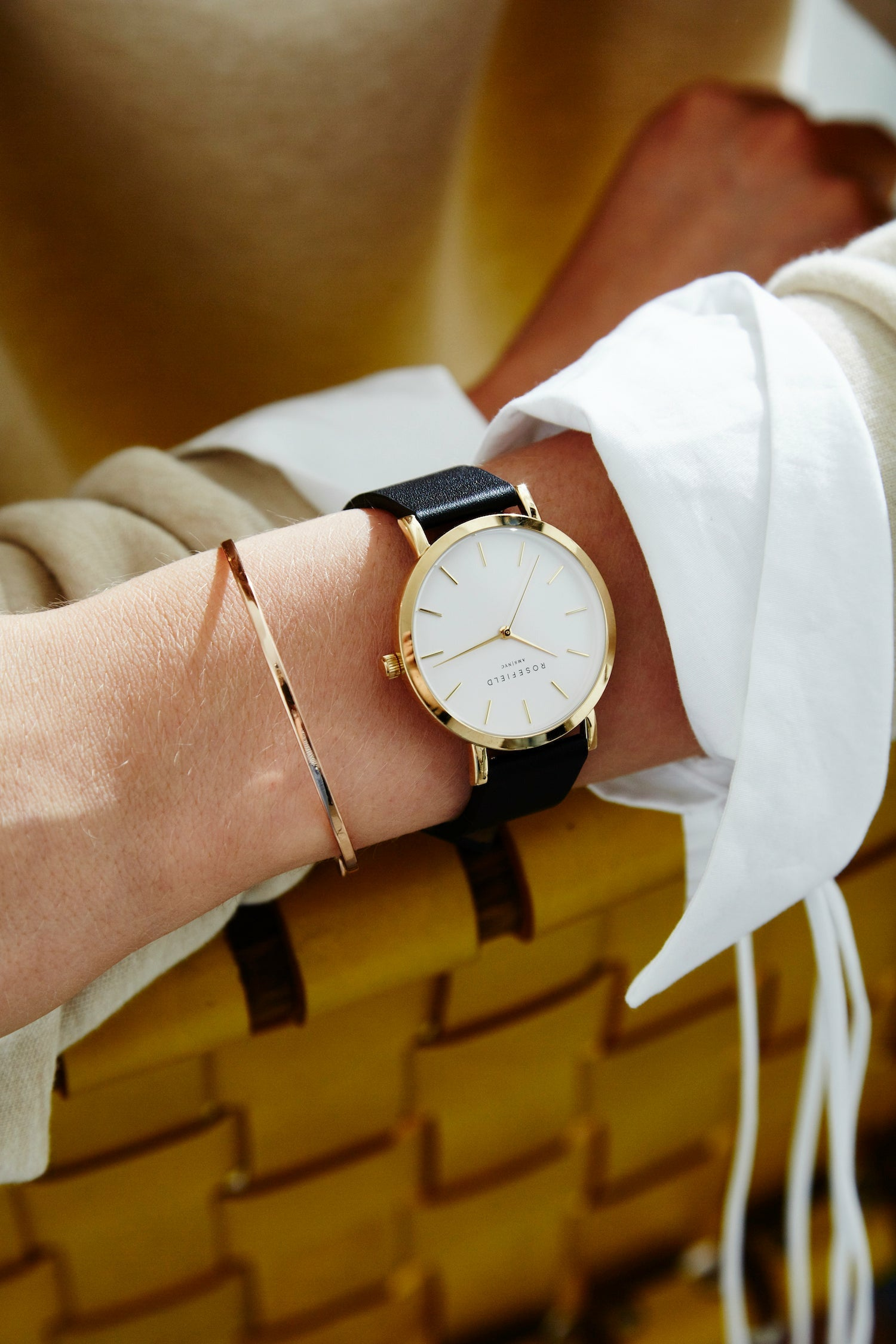 Rosefield Watch - The Gramercy - White/Black/Gold