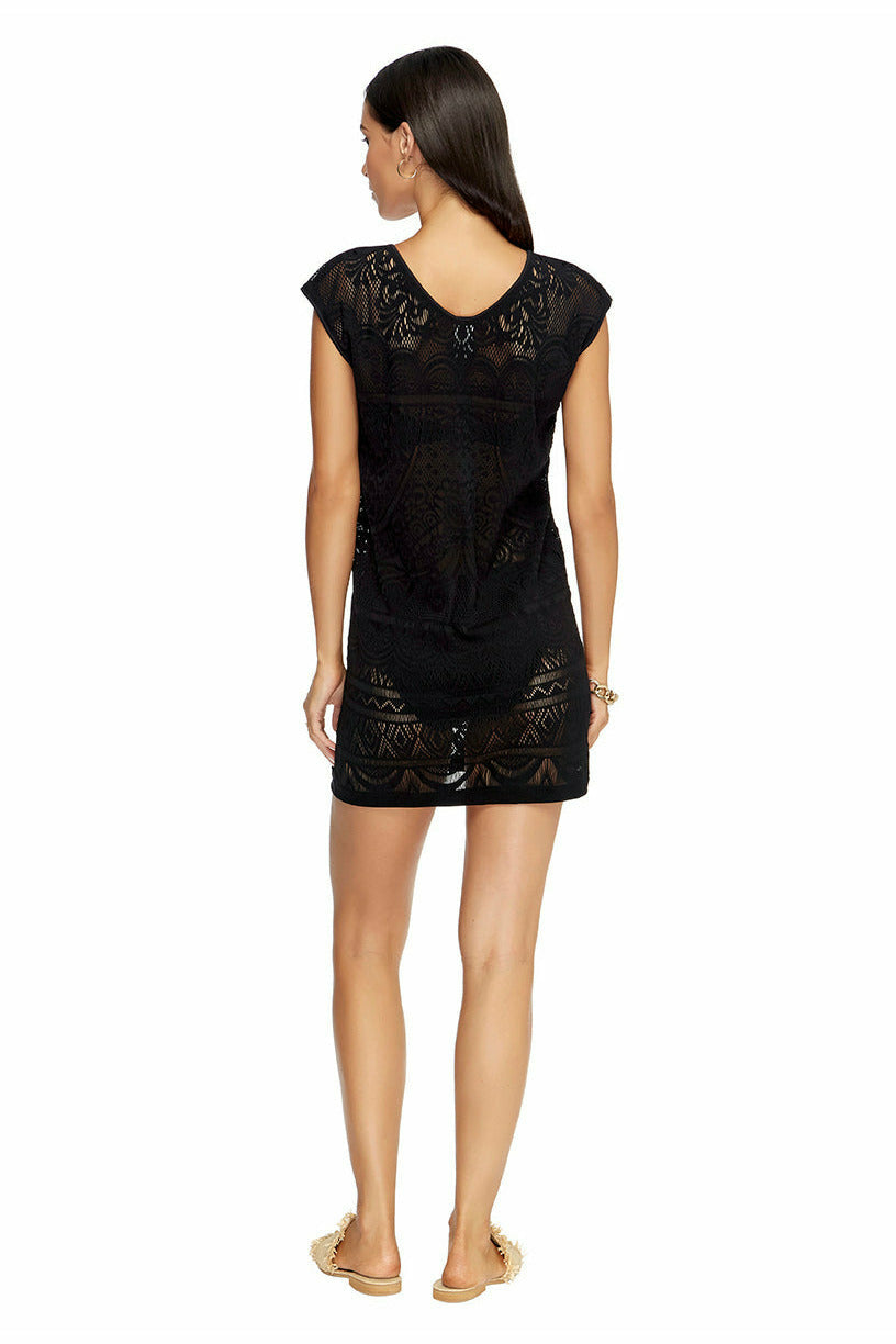 Jets Shift Dress - Black
