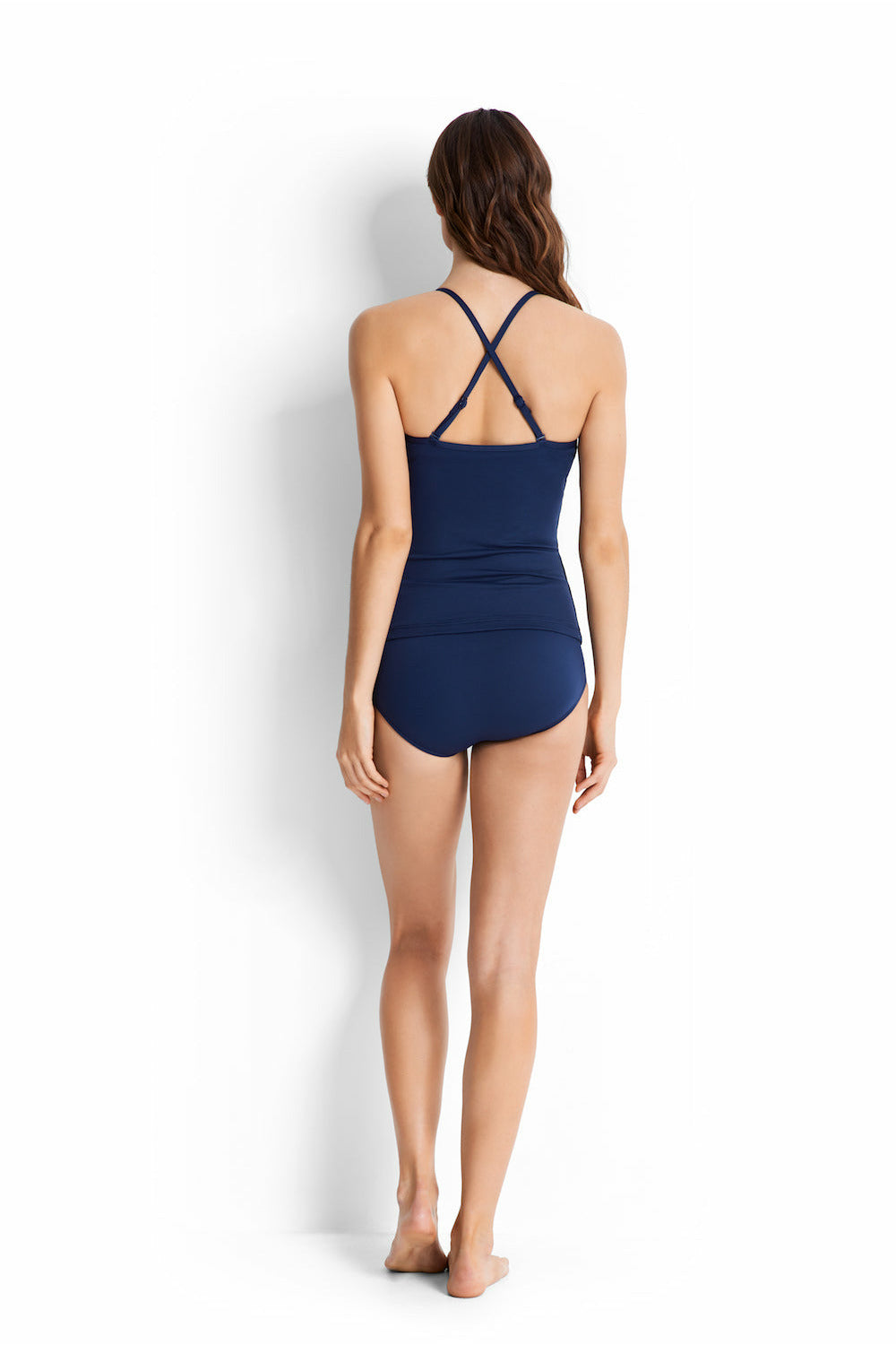 Seafolly - Essentials Twist Halter Singlet - Indigo