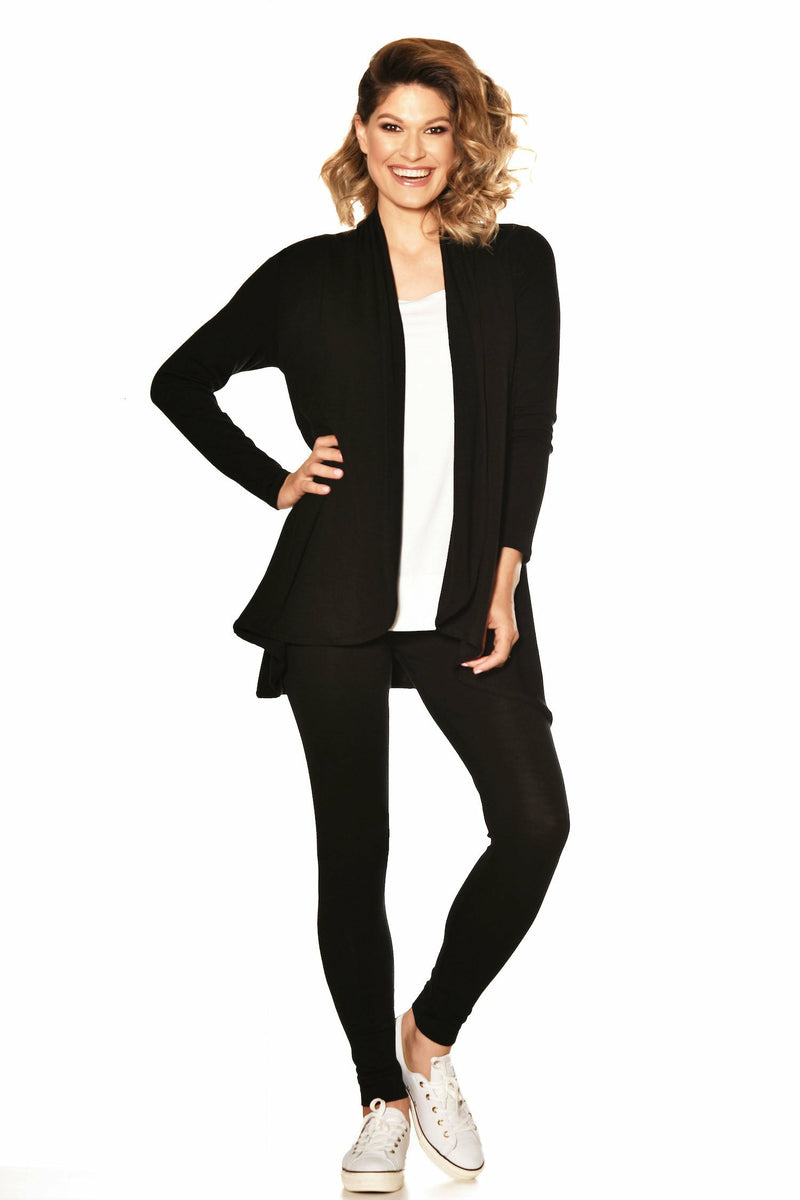 Paula Ryan Essential Easy Fit Panelled Merino Cardigan - French Navy