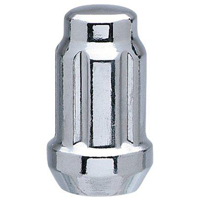 6 SPLINE CHROME NUT 1PC 60° SEAT-12X1.50MM-17/19/21MM HEX