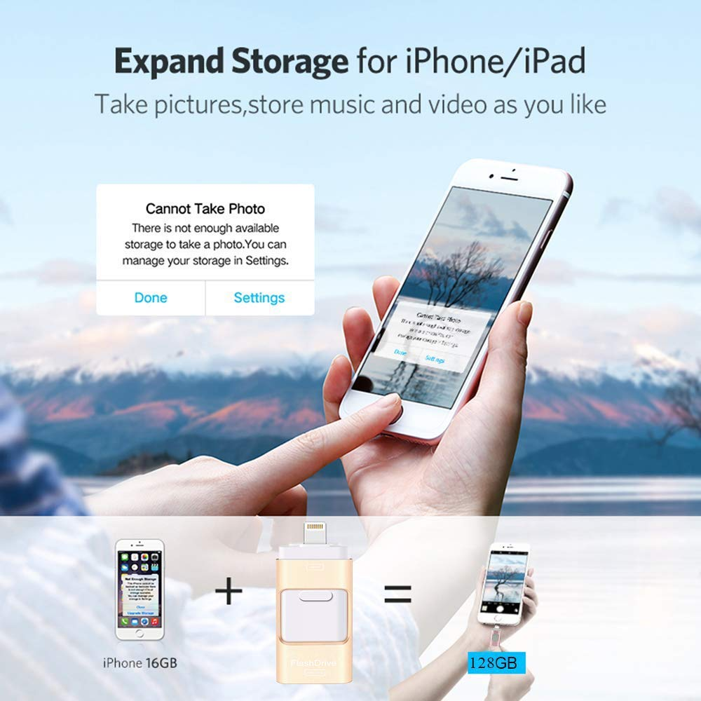 iFlash USB Drive for iPhone, iPad & Android [NEW version 2020].