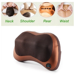 Relaxation Massage Pillow Vibrator Electric Shoulder Back Heating Kneading
