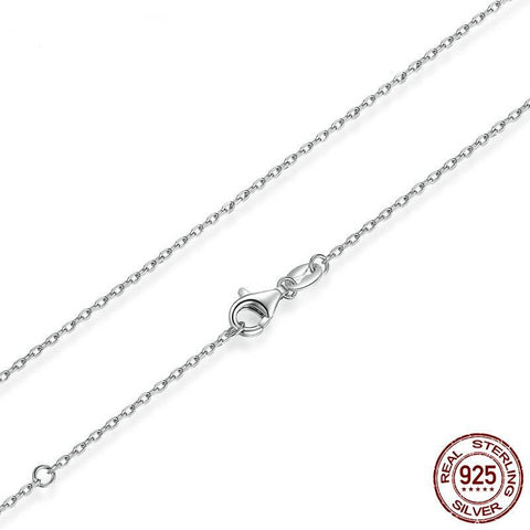 45cm Real 925 Sterling Silver Long Chains Necklaces Fit For Pendant Charm For Women Luxury S925 Jewelry Gift SCA009