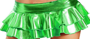 Women Sexy Lady Super Mini Pleated Skirt Miniskirt Patent Leather Short Clubware Skirts