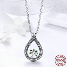 Load image into Gallery viewer, New Fashion 100% 925 Sterling Silver Water drop Floating Pendant Necklaces Fit Petite Charms For Women DIY Jewelry FIF001