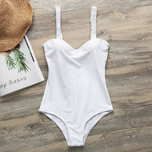 Load image into Gallery viewer, Push up bodysuit Sexy white bikinis 2019 mujer Retro swimsuit