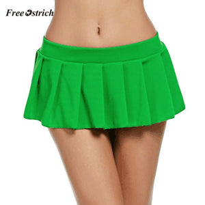 Free Ostrich Clothes Women Skirt Womens Fashion Club Low-Waisted Sexy Mini Skirt Pleated ladies short skirt women summer skirts