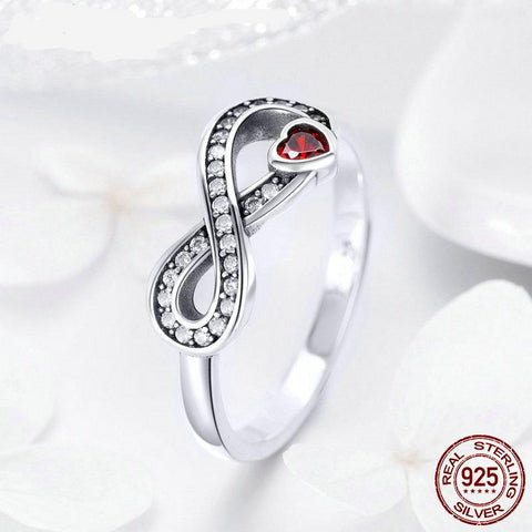 2019 New Fashion 100% 925 Sterling Silver Infinity Forever Love Finger Ring for Women Wedding Jewelry Lover Gift FIR415