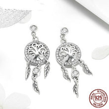 Load image into Gallery viewer, New Arrival 925 Sterling Silver Dreamcatcher Drop Earrings For Women Female Brand Luxury Earring Jewelry Gift FIE457