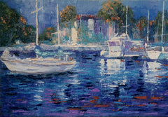 Painting of a Picturesque Marina.
