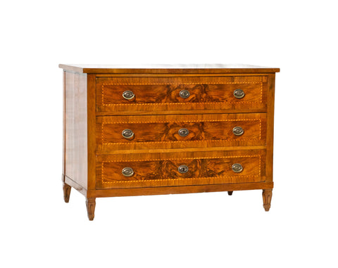 Italian Neoclassical Commode of Walnut