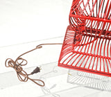 Red Birdcage Form Lamp