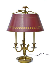 French Empire Style Bouillotte Table Lamp