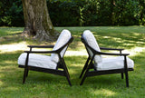 Lounge Chairs in Black and White