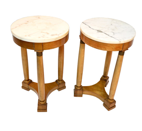 Vintage French Marble Top Stands