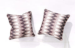 Ikat Pillows in Christopher Farr Cloth