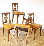 19th Century French Walnut Game Table Chairs