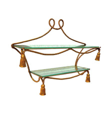 Italian Gilt Tassle Form Shelf
