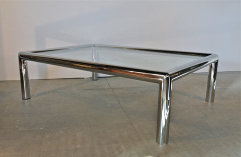 Chrome TUBA Coffee Table in the Manner of John Mascheroni