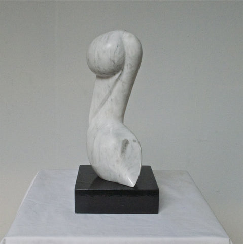Abstract Marble Sculpture of a Pelican