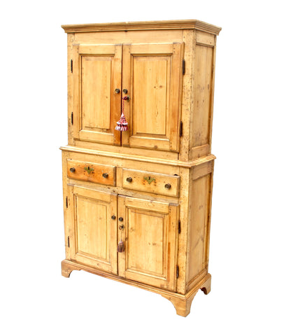 18th C. Provincial Cupboard of Pine
