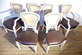 White chairs in pony hide