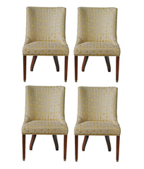 Chair Quad in Trellised Chenille and Nailhead