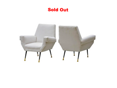 Italian Lounge Chairs by Gio Ponti