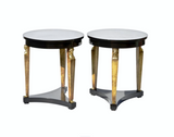 Neoclassical end tables by Baker