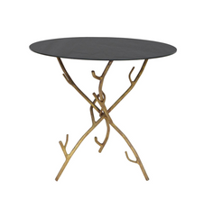 Faux Bois Cocktail Table