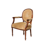 Louis XVI Fauteuil in Cut Velvet
