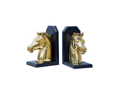 Brass Zebra Bookends by Sarreid , Ltd.