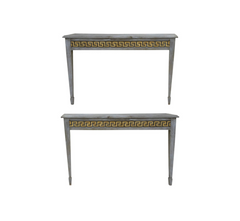 Tallwood Console Pair in Smoke and Gold