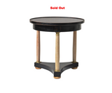 Ebonized Empire Style Side Table by Baker
