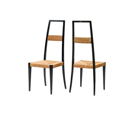 Italian Highback Chairs in the Manner of Ponti