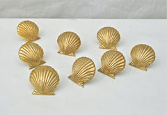 Brass Shell Form Napkin Keeps.