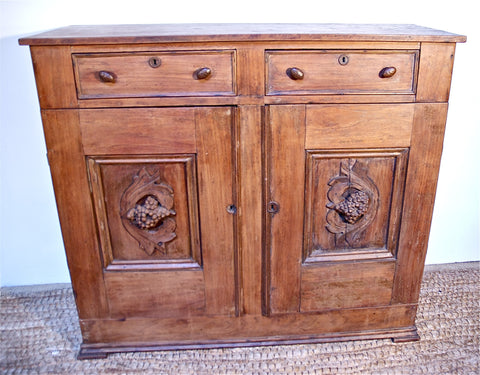 19th Century Slender Buffet of Walnut & Poplar