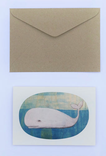 Whale 100% Recycled Greeting Card