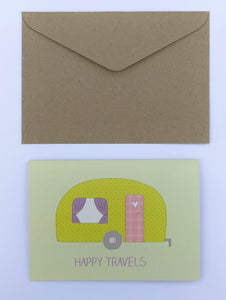 Happy Travels 100% Recycled Greeting Card