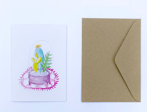 Succulent Garden 100% Recycled Greeting Card