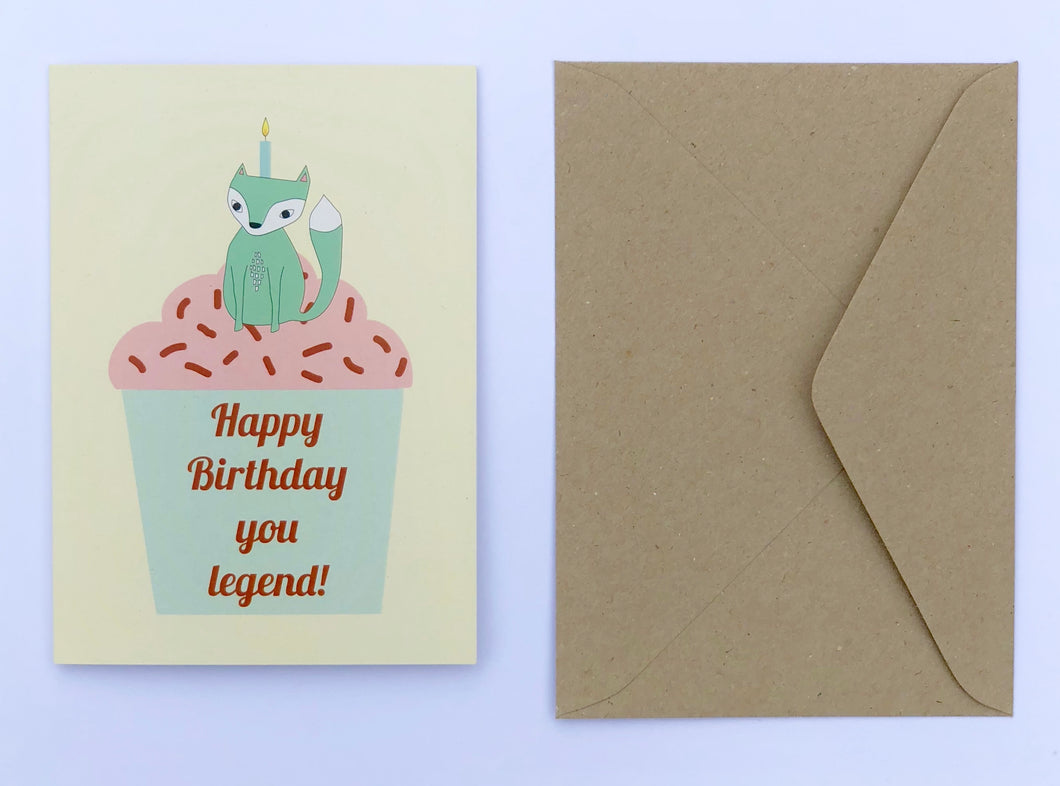 Happy Birthday You Legend 100% Recycled Greeting Card