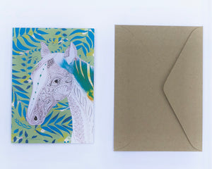 Horse 100% Recycled Greeting Card