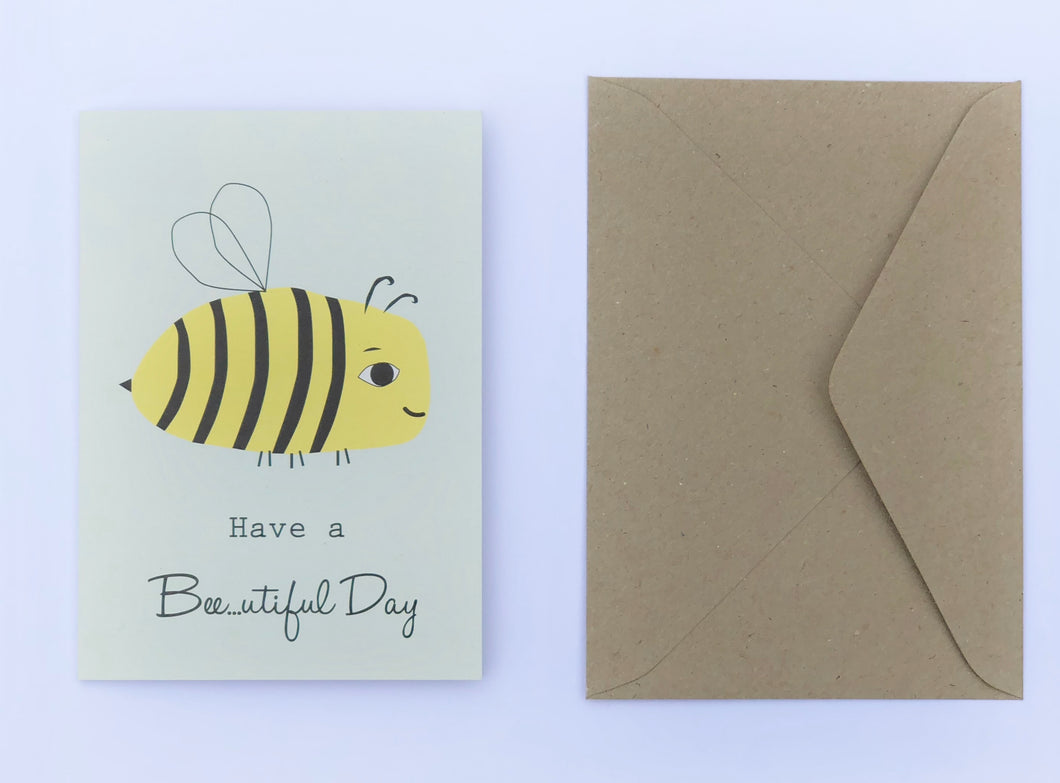 Have a Bee...utiful Day 100% Recycled Greeting Card