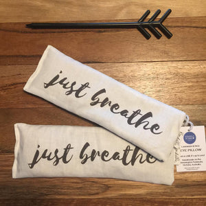 'Just Breathe' Eye Pillow