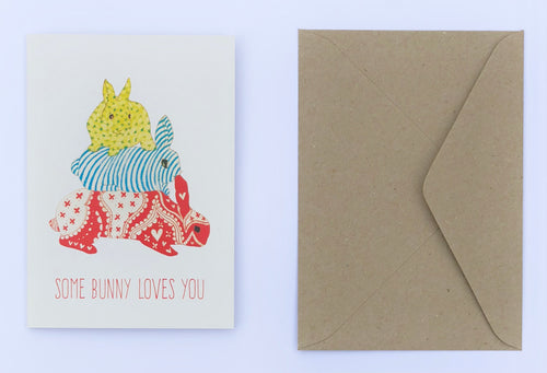 Some Bunny Loves You 100% Recycled Greeting Card