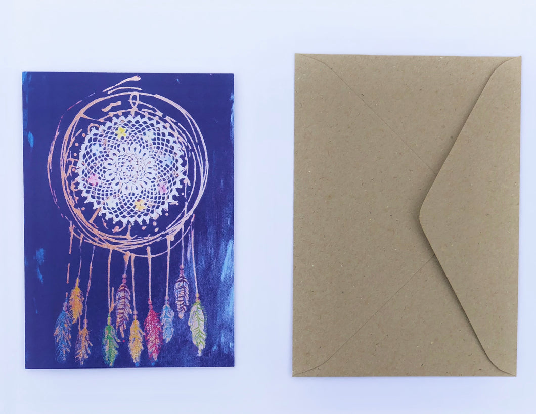 Dream catcher 100% Recycled Greeting Card