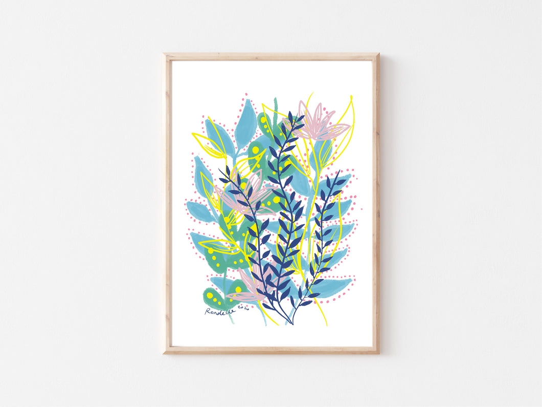 Printable Wall Art / A1 Size / Grow & Bloom Digital Art Print