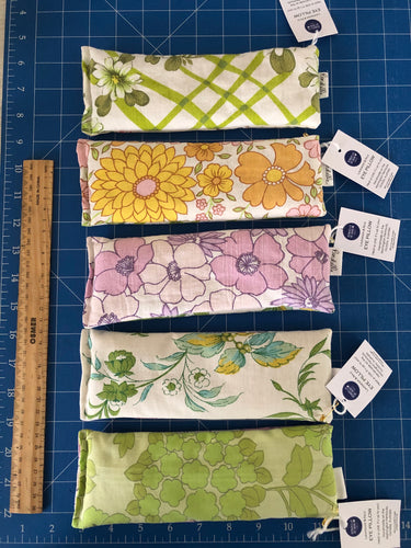 5 pack Vintage Fabric Eye Pillow - mixed designs