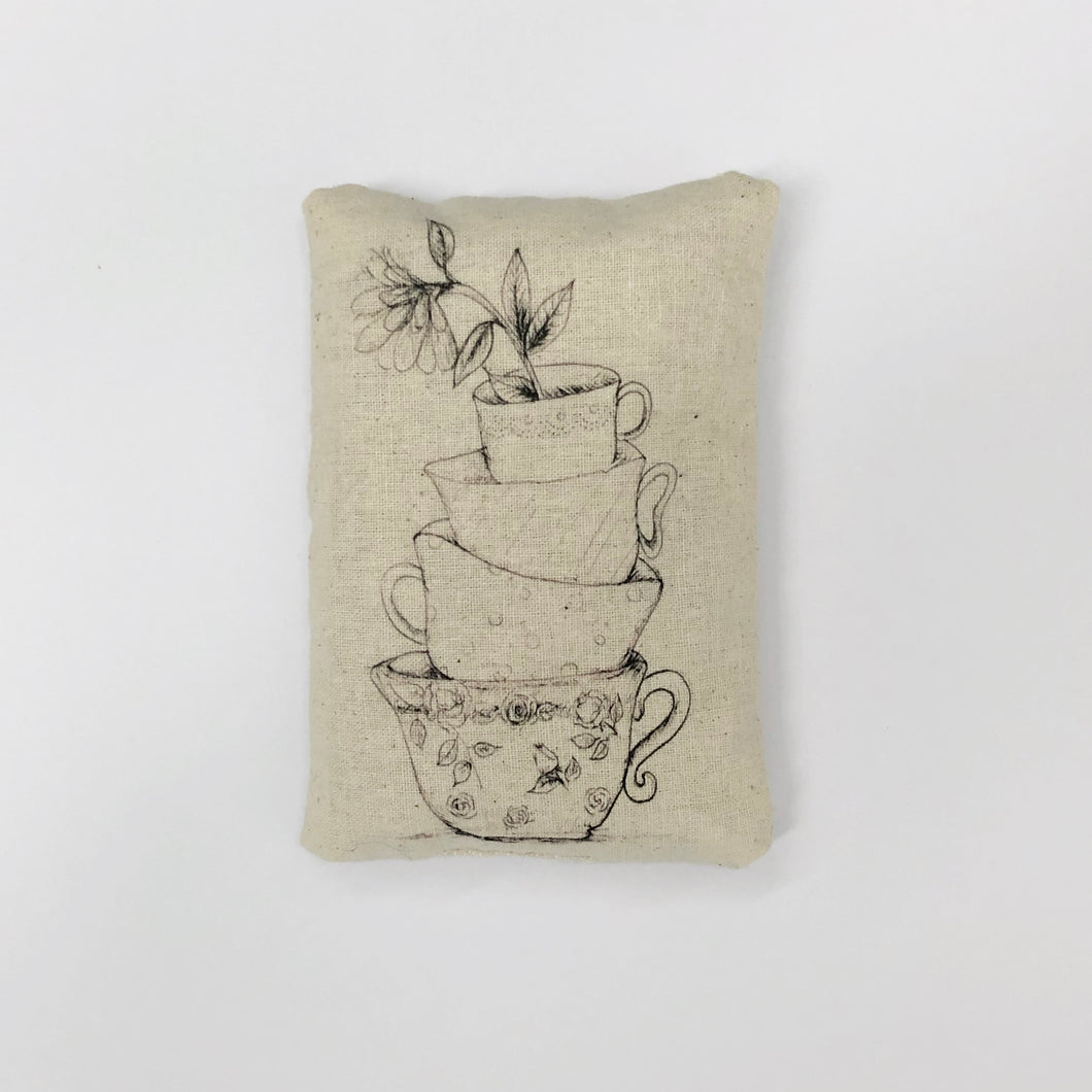 Mini Rice Bag - Teacups